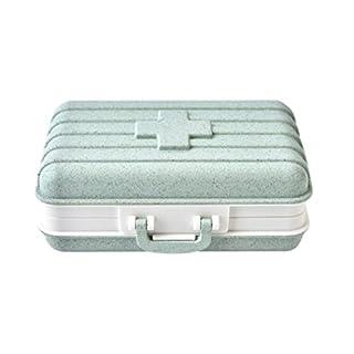 Gaddrt Pill Medicine Box Holder Storage Organizer Container Case Great for Travel Portable Light Green