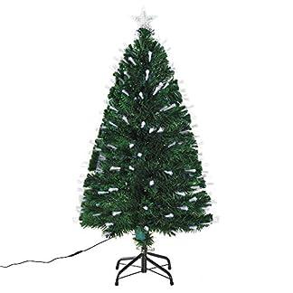 HOMCOM-Weihnachtsbaum-Tannenbaum-Baum-mit-140-LEDs-Stern-Grn-60-x-H120-cm