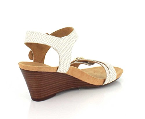 Vionic Womens 382 Laurie Noble Leather Sandals White Snake
