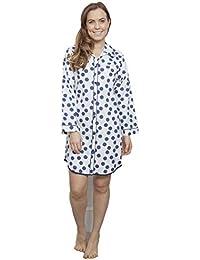 f33ae25a67d Cyberjammies - Chemise de Nuit - Femme Blanc Blanc et Bleu