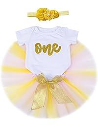 07022ccf7083 Amazon.co.uk  Gold - Dresses   Baby Girls 0-24m  Clothing