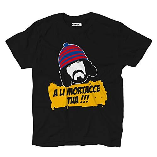 KiarenzaFD T-Shirt Film Trash Comic Er Monnezza Cinema Cult Anni 80 Streetwear S schwarz