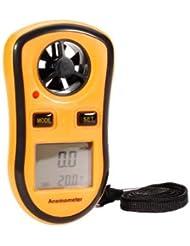 Digitaler Windmesser, Wind Speed Gauge Temperatur von der Geschwindigkeit Windmesser/Luft-ideal für Windsurfbretter, voile, Pfirsich, Naturerkunden und alpine Aktivitäten
