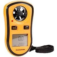 Anemometro - Misurador de la velocidad del viento - Temperatura - Ideal para vuelos, alpinismo, pescar