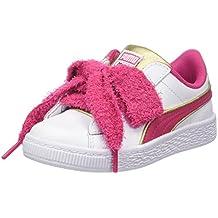 Puma Minions Basket Heart Fluffy PS, Zapatillas para Niñas