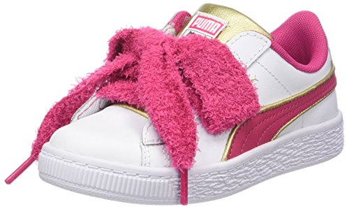 Puma Minions Basket Heart Fluffy PS, Sneakers Basses Fille