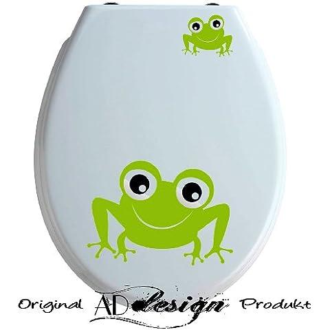 Trend Design–Adesivo per sedile WC, set di 2* * * Rana * * * Libera scelta di colori.