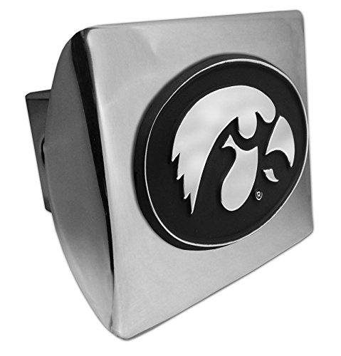 Iowa Hawkeyes Chrome Metall Abdeckung für Anhängerkupplung, mit Chrom Logo (Metall-anhängerkupplung Abdeckung)