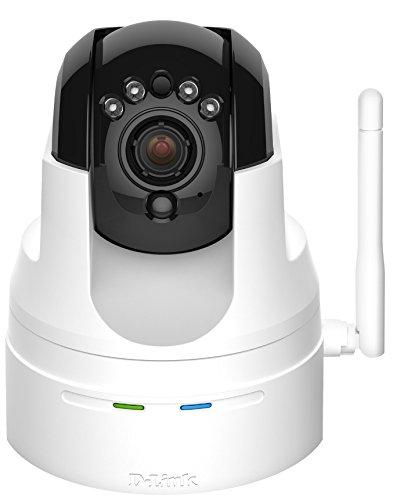 D-Link DCS-5222L Videocamera di Sorveglianza HD, Cloud, Wireless N, Visore Notturno, Motorizzata Pan/Tilt/Zoom, Notifiche Push per iPhone/iPad/Smartphone, Bianco