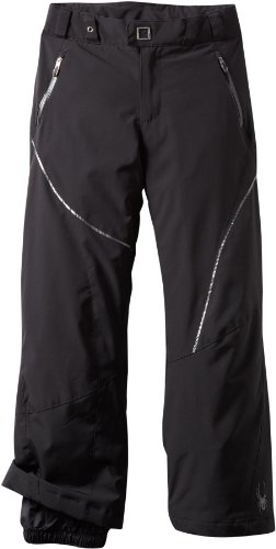 Thrill Athletic Fit Pant (Spyder Girl 's Thrill Athletic Fit Hose, Jungen, Schwarz/Schwarz/Schwarz)