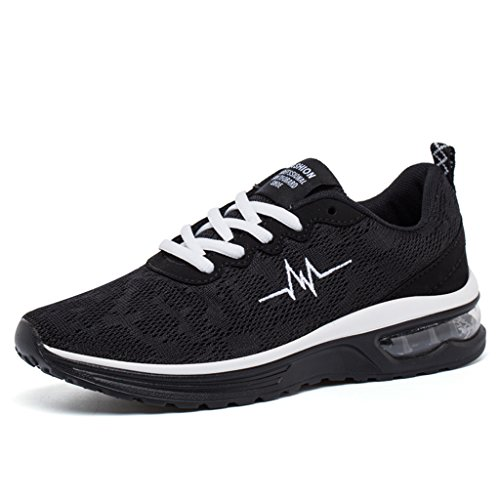 Femme Homme Baskets Course Gym Fitness Sport Chaussures Air Couples Chaussures HUSK'SWARE Noir