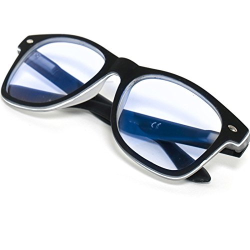 Damen Herren Lesebrille +1.0 +1.5 +2.0 +2.5 +3.0 +3.5 +4.0 Blue Light Filter Brille Blendschutz, Kratzfestes Objektiv Computer TV Anti Glare MFAZ Morefaz Ltd (+2.00 Anti Glare, Black Rubi)