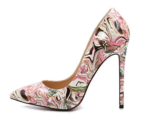 uBeauty - Escarpins Femmes - Chaussures Stilettos - Talon Aiguille - Grande Taille - Chaussures Femme Talons Multicolore B