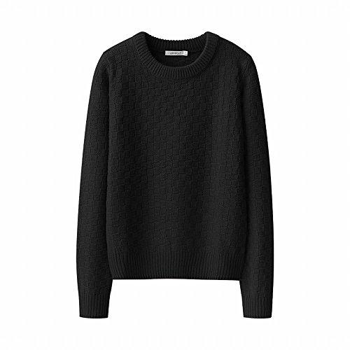 t und lose stricken dicke Herbst, langarm Pullover Pullover, L, Schwarz (Hässliche Pullover-kit)