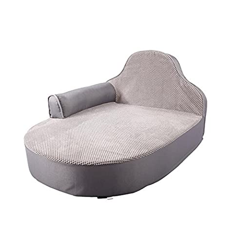 YIXIN Cats And Dogs Pet Bed / Mat Sofa Style Oxford Cloth Silver Gray Brown With Cushions + Headrest Removable Clean ( Color : Silver gray )