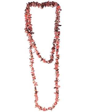 budawi® - Rhodochrosit Splitterkette Länge ca. 90 cm, Edelsteinkette endlos