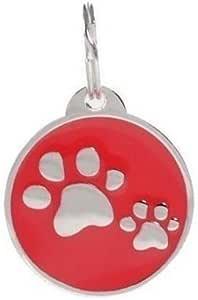 PetTouchID Médaille d'identification intelligente pour animal de compagnie avec code QR, NFC, localisation GPS Motif patte