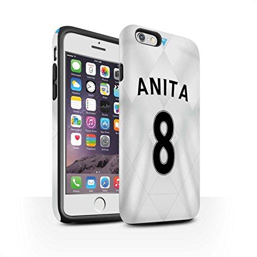 Offiziell Newcastle United FC Hülle / Matte Harten Stoßfest Case für Apple iPhone 6 / De Jong Muster / NUFC Trikot Away 15/16 Kollektion Anita
