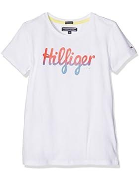 Tommy Hilfiger Ame Girls Hilfiger Cn Knit S/S, T-Shirt Bambina