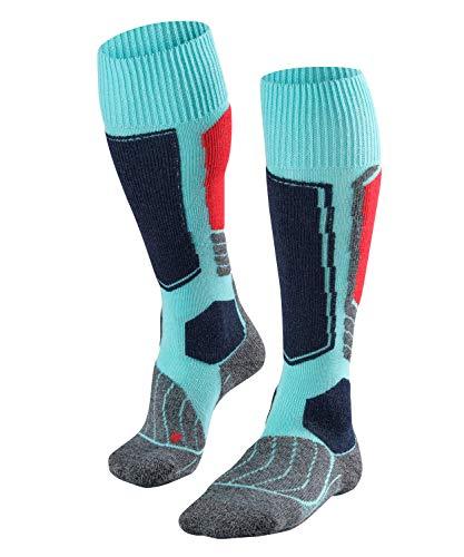 FALKE Damen Skisocken SK1, Merinowollmischung, 1 Paar, Blau (Fiji 6980), Größe: 37-38
