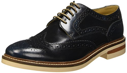 Base LondonApsley - Scarpe stringate Uomo , Blu (Bleu (Washed Blue)), 41