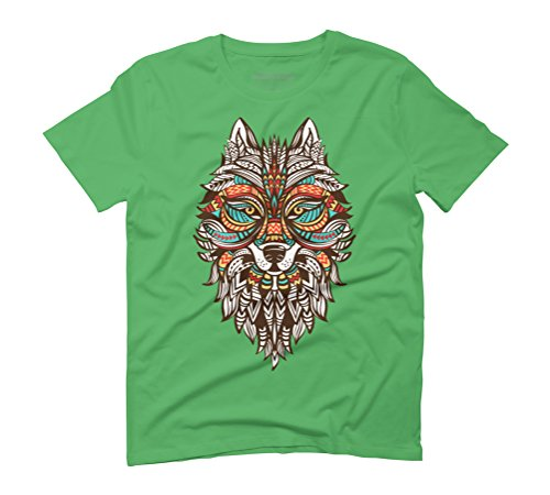 Wolf Men's Graphic T-Shirt - Design By Humans Green
