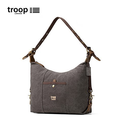 trp0413-troop-london-bolso-de-hombro-heritage-de-mujer-lona-cuero-elegante-bolso-de-mano-lavado-negr