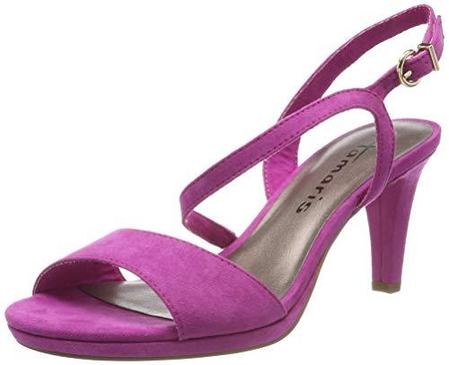 Tamaris 1-1-28318-22, Sandali con Cinturino alla Caviglia Donna, Rosa (Fuxia 513), 39 EU