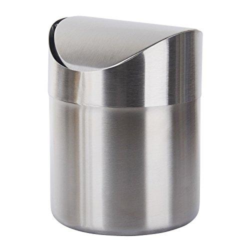 TWFRIC Papelera pequeña Metalica - Mini de Acero Inoxidable Cepillado para encimera...