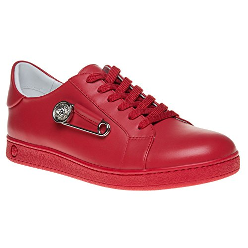 Versus Safety Pin Low Top Homme Baskets Mode Rouge Rouge
