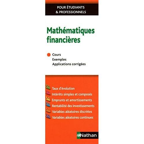MATHEMATIQUES FINANCIERES 2011