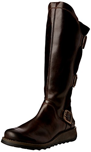 Fly London Women's Synd Biker Boots, Brown (Dk.Brown/Expresso 006), 5 UK