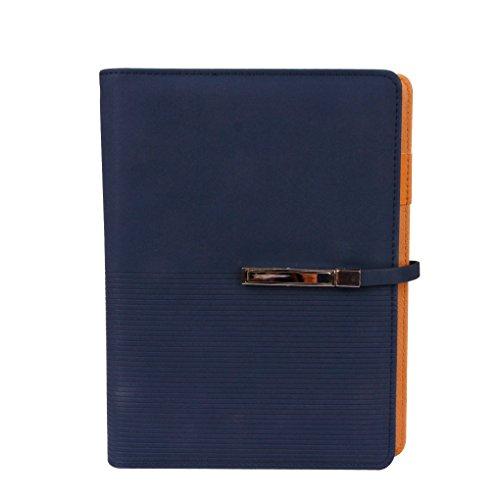 Notizbuch DIN A5 Tagebuch PU Leder Nachfüllbare Ringblöcke mit Stifthalter Hardcover Journal Reisetagenuch Notizblock für Büro und Schule (A5 Binder)