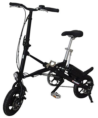 Aluminium E-Bike Pedelec, Faltrad, E-FALTRAD, Reifengröße: 12 Zoll (Schwarz)