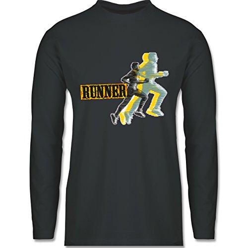 Laufsport - Runner - Longsleeve / langärmeliges T-Shirt für Herren Anthrazit