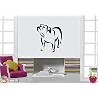 GGWW Wall Stickers Dog Bulldog Pet Animal Cool Decor For Your Place Z1690I