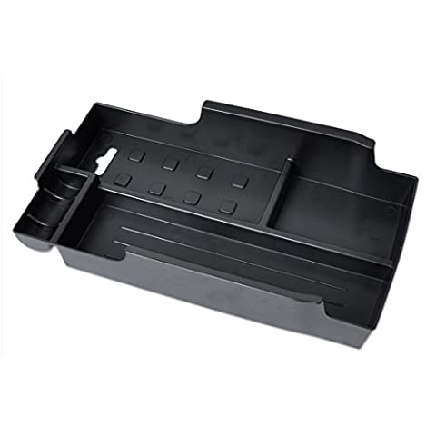 Black Inner Control Armrest Storage Secondary Glove Box Organized Container
