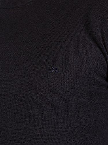 J Lindeberg Homme Mikael Logo Knit, Bleu Bleu