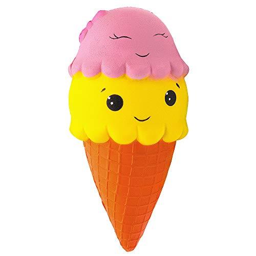 de Squishies Spielzeug, Super Soft Cut Squeeze Spielzeug Kawaii Kuchen EIS duftende Squishy Jumbo Stress Relief Dekompression Geschenk für Mädchen Jungen (EIS) ()
