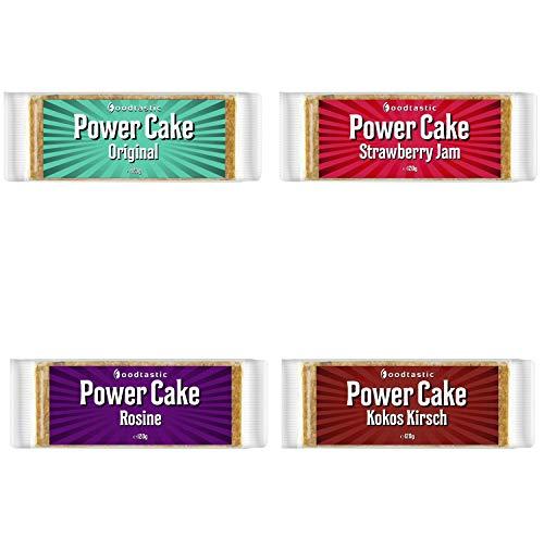 Foodtastic Power Cake Vegan Mixbox 24 x 120g | leckere und saftige Haferriegel | Handgemachte Flapjack Energieriegel auf Haferflocken Basis
