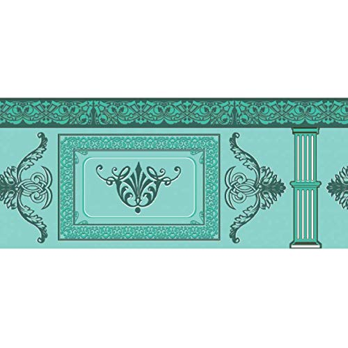 2c5d5c9c90 Neoclassical Green Luxury Border Sheet- Dolls House Miniature - 12th