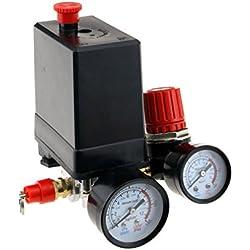 Compresseur d'air Pressostat triphasé Pressostat Vanne de contrôle avec le régulateur d'air et soupage et jauge