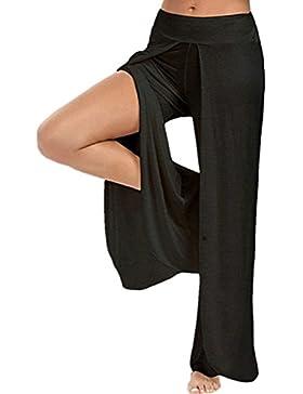 Alessioy Mujeres Pantalon Palazzo Moda Cómodo Pantalon Anchos Libre De Elastische Tiempo Elegantes Abiertas Taille...