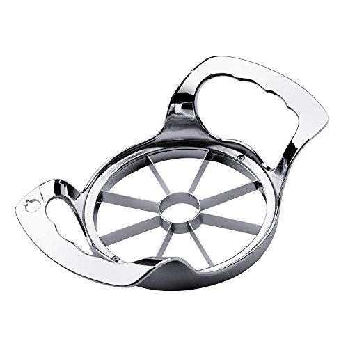 SAVORLIVING Taglia Mela Acciaio Inox Taglia Mele 8 Lame Argento Stainless Steel Apple Slicer 8 Blades Silver 16.8 x 9