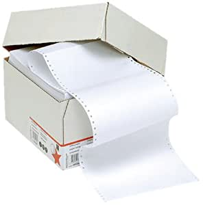 5 Star Listing Paper 1-Part 60gsm 11inchx368mm Plain [2000 Sheets]