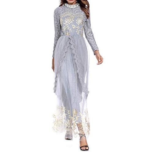 Modaworld Damen Bleistiftrock Kleid Dame Trompetenhülse Brautjungfer Lange Roben Erwachsene Mädchen Gebet Muslim Tunika Mittlerer Osten Arabisch Kleider