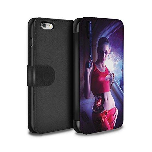 Officiel Elena Dudina Coque/Etui/Housse Cuir PU Case/Cover pour Apple iPhone 6 / Ange Gardien Design / Super Héroïne Collection Cyborg