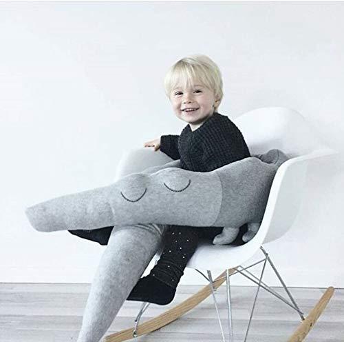 KINGEE-P Bett-Stoßstangen für Kleinkinder - weiches Baby-Bettgitter Krippe Kinderbett Bumper Pads Bettwäschesatz Schöne Krokodil große umarmende Kissen Spielzeug Kissen Kissen Schlaf-Spielzeug