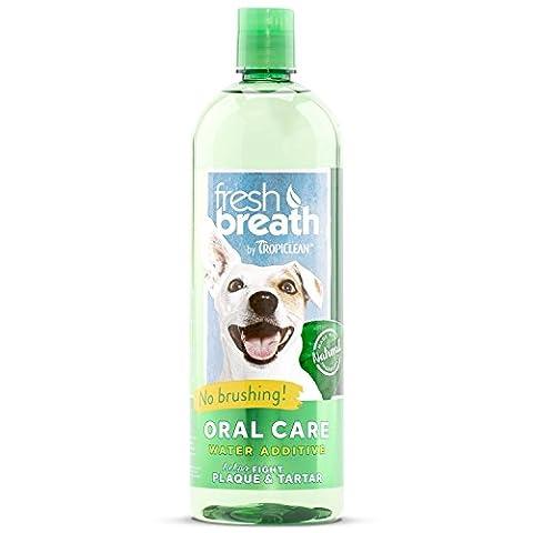TropiClean Fresh Breath Oral Care Water Additive, 33.8oz