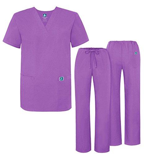 al Scrubs Set Medical Uniforms - Unisex Fit - 701 - LAV -M (Ärzte Uniform)